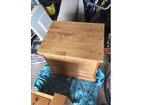 Solid hardwood maple storage unit