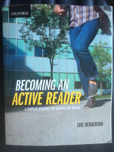 Becoming an Active Reader - Eric Henderson Cambridge Kitchener Area image 1
