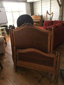Antique solid wood twin bed frames -- matching pair -- $200 each
