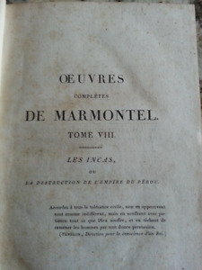 Rare Antique 1819 French Book - Oeuvres Completes De Marmontel T