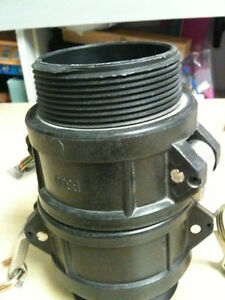 """Poly Camlock Fittings - 3"""" Part B male coupler, quantity we have"""