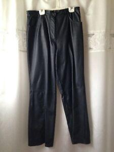 pantalon cuir marine
