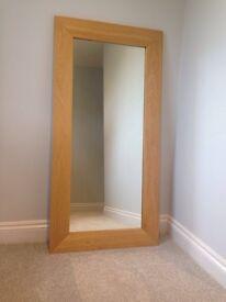 Large oak mirror