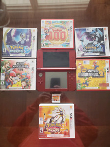 Nintendo 3DS XL with 5 games