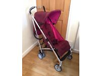 Mamas & Papas Frankie stroller pushchair & rain cover . Reclines . Good clean condition