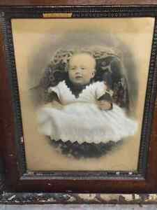 "Antique "" Baby in Christening Dress ""( over 100 years old )"