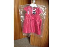 Girls pretty pink party dress age 12-18 months