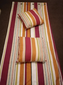 Next Candy Stripe Curtains and matching cushions