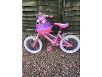 Girls princess bike and helmet