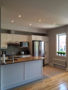 Monkland village, bright & beautifully renovated 3+1 bed apt