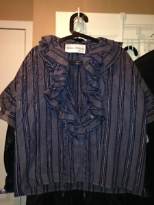 Never-Worn Vintage Esther Cherry Blouse (Valentino Copy) With Bo