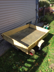 Utility trailer, rated at 1000 pounds.