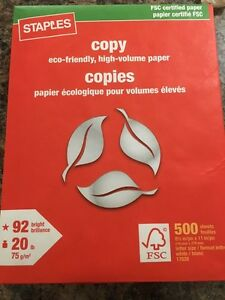 6 Packs Staples Photocopy papers