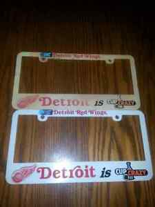 LIC-PLATE HOLDERS 1NEW 1USED $5.00 FOR BOTH Windsor Region Ontario image 1