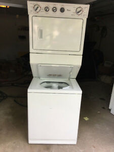 2014 Whirlpool stack one piece washer electric dryer fully func