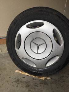 Selling a set of 4 TIRES, RIMS and CAPS.