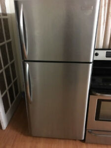 Frigidaire stainless steel top freezer bottom refrigerator 30w30