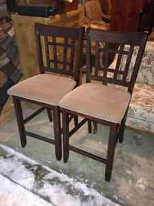 Set Of 4 Dark Brown Counter/Bar Stools