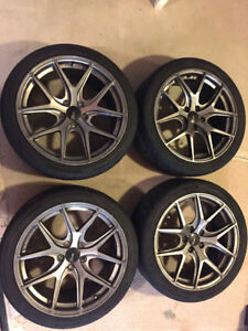 High Performance Summer Tires and Light Weight Alloy Rims