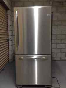 GE Profile Refrigerator and and Stove