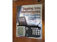 TI84 Graphics Calculator and book for Open Uni MU120 course