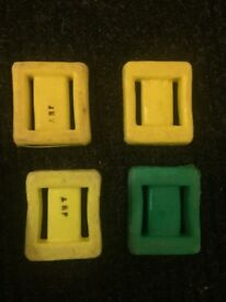 Diving Weights - 4 x 2lb (0.9kg) Plastic-coated lead Weights - £2.50 EACH