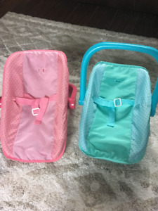 Toy baby carriers