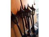 Joblot 10 x Garden lights lamppost black antique tall wall lights