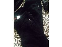3x pairs of skinny jeans from next- black size 10