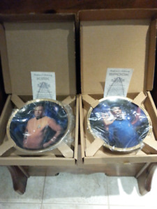 Star Trek Captain Kirk and Spock collector plates