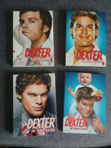 Dexter Season 1 to 4 DVD boxsets