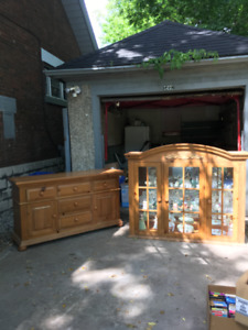 Pine China Cabinet for Sale!