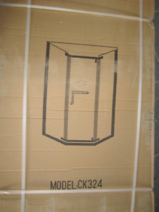 New glass shower booth and base want to sell