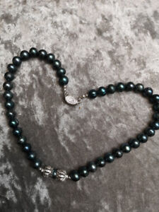 New Sublime Baroque Black Tahitian Color Pearl necklace