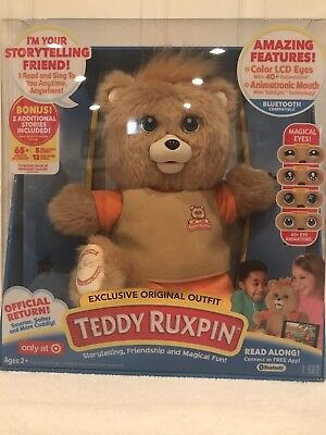 TEDDY RUXPIN OFFICIAL ANIMATED BLUETOOTH LCD EYES NEW 2017 EXCLUSIVE