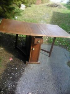 ANTIQUE  OAK  TABLE,  Very Large, Very Heavy, $20