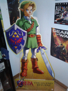 RARE Zelda Ocarina of Time 3DS Standee - Game store only display