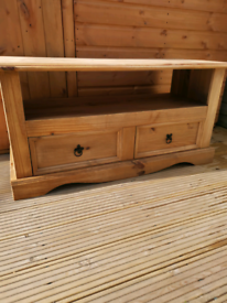 Mexican pine 2 draw TV unit