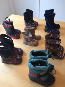 Lot 6 bottes fille 3 ans bogs - taille 7/8 - lot ou séparément