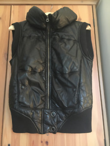 Women's Leather 'Puff' Vest by Brogden Size Medium