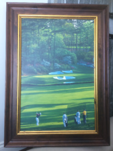 Golfing Theme Picture, solid wood frame