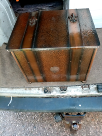 Vintage copper log box