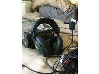 Turtle beach X12 headset (Xbox 360/PC) used in box