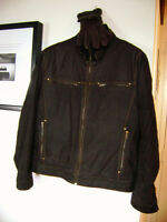DANIER TEXTURED LEATHER JACKET, With Gloves, $80Total