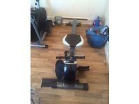 Rowing machine & cross trainer package