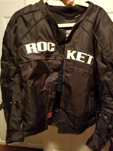 Men's XL Jackets & vests - leather, bike & material