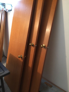 Portes finition chêne