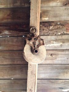 Antique pulleys