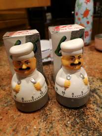 2 mechanic egg timers in their original boxes