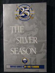 1994-95 BUFFALO SABRES YEARBOOK 25TH ANNIVERSARY EDITION